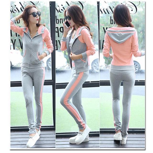 2016 New Fashion Causal Clothing 2Piece Women Hoodies Sweatshirt Suits Set Cotton Tracksuits Sportwear Plus Size