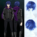 Quality Thick 32cm Short Blue Wavy Wig Synthetic Hair Tokyo Ghoul Cosplay Kirishima Ayato Wigs