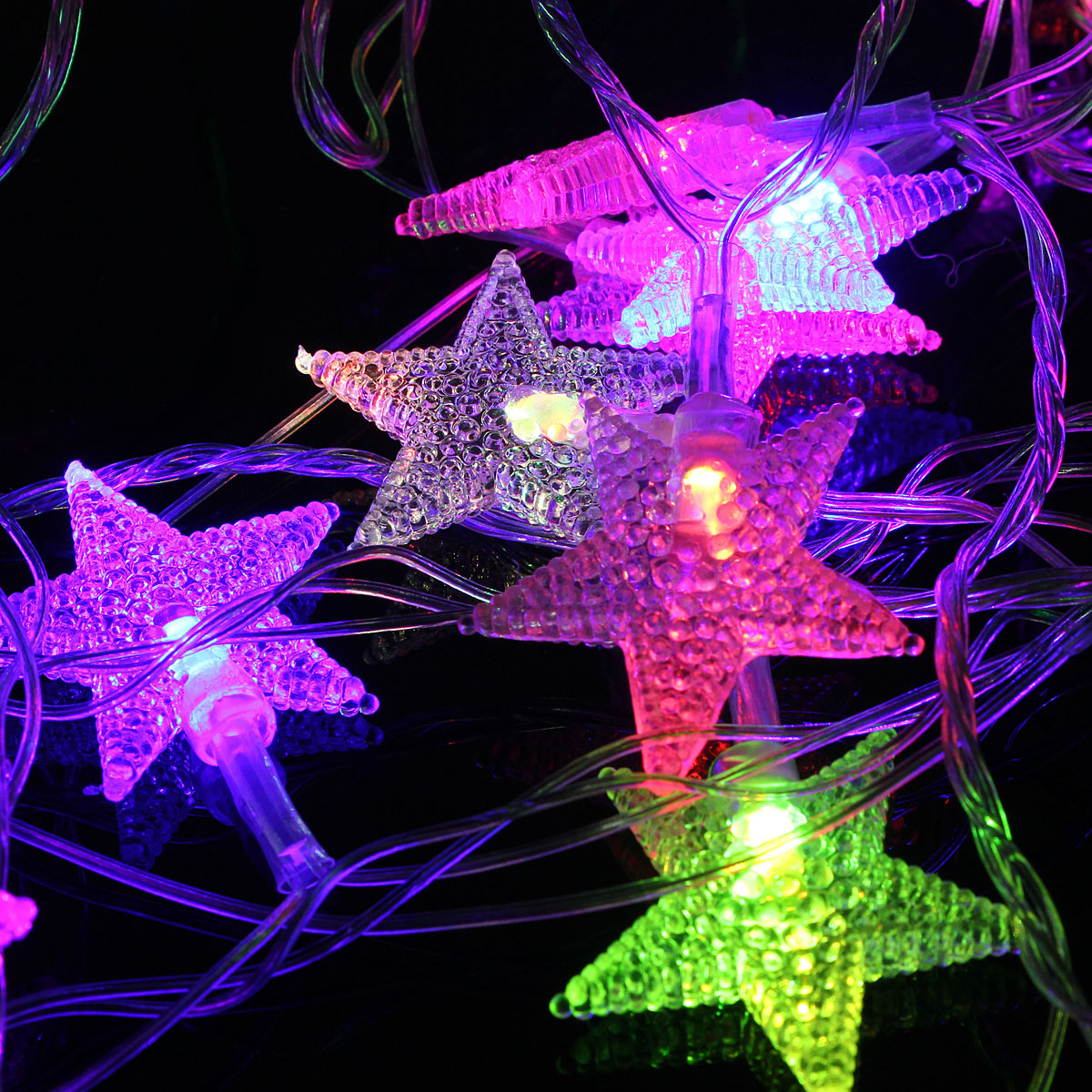 5M 28LED Five-pointed Star String Lights Christmas Holiday Night light Lamp for Home Garden Wedding Decoration