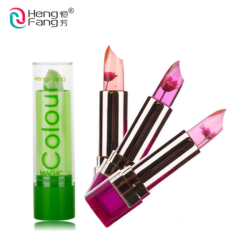 Hot Sale Temperature-changed Jelly Fruit Flower Super Lipstick Nutritious Red Nude Batom Lip Balm Matte Gloss Lips Care Cosmetic