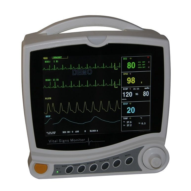 CMS6800 6 Multi-Parameter ICU Patient Monitor,Vital Signs Monitor,NIBP,EG,SPO2,Pulse Rate  holter monitor medical equipment buy holter monitor