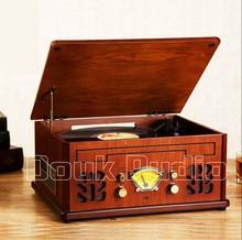 Douk Audio Bluetooth Stereo Turntable LP Vinyl Record Player CD&U-disk&FM Radio&AUX&USB 220V