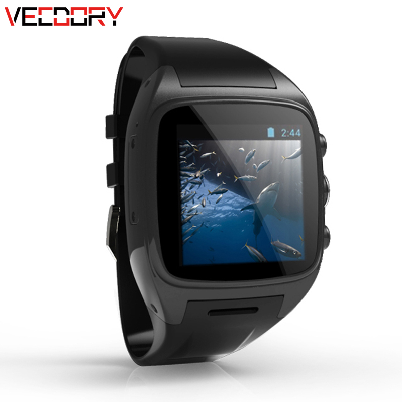 Vecdory Android Smart Watch GPS Watch Android Wear Smart Watches 3G WIFI 512M+4G Bluetooth Smartwatch SIM Support 32G TF Card мобильный телефон htc g6 a6363 android gps wifi 5mp
