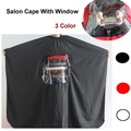 Fashion pro salon hairdressing cape hairdresser cape hair cutting barber cape with window haircutting cape black red white