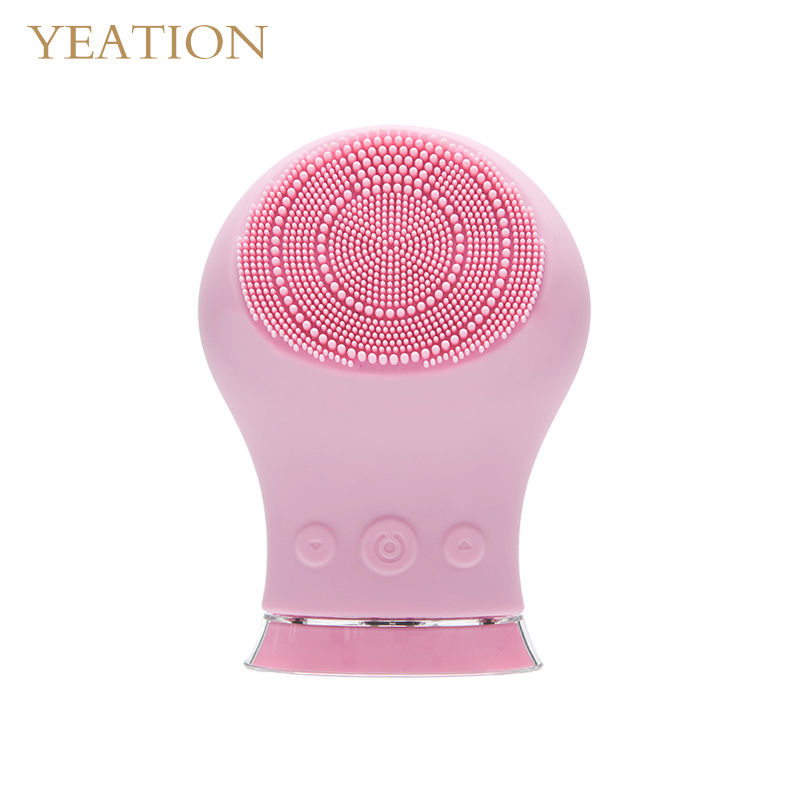 YEATION Electric Silicone Cleansing Instrument Ultrasonic Vibration Massage Instrument in Face Skin Care Tools from Beauty Health