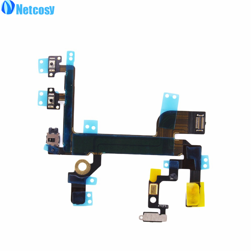 Netcosy New For Iphone SE Power Button On/off Switch Key Flex Cable Ribbon For iphonese Replacement Parts Repair Part