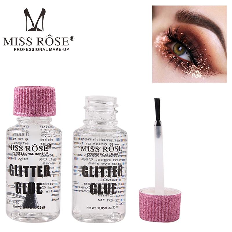 Miss Rose Glitter Glue Eye Waterproof Long Lasting Eyeshadow Glue Eye Primer Glue Fix Gel Base Hypoallergenic Glitter Makeup