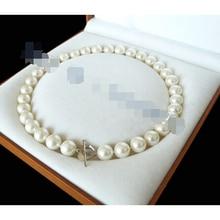 "Envío gratis >> >> > 12 mm AAA blanco mar del sur shell collar de perlas 18 "" LL0077"