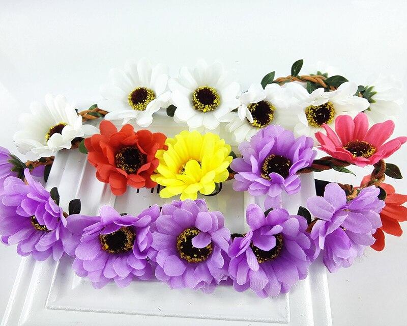 Us 172 28 Offprinses Meisje Vrouw Hoofd Krans Kroon Halo Bloemen Hoepel Voor Bruiloft Kerst Verjaardag Reizen Fotografie Haaraccessoires In