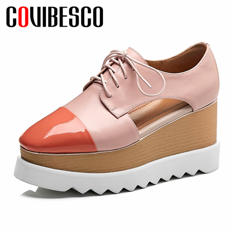 COVIBESCO Classic Round Toe Lace Up Women Flats Mixed Colors Genuine Leather Flats Platforms Summer Fashion Casual Shoes WomanCOVIBESCO Classic Round Toe Lace Up Women Flats Mixed Colors Genuine Leather Flats Platforms Summer Fashion Casual Shoes Woman