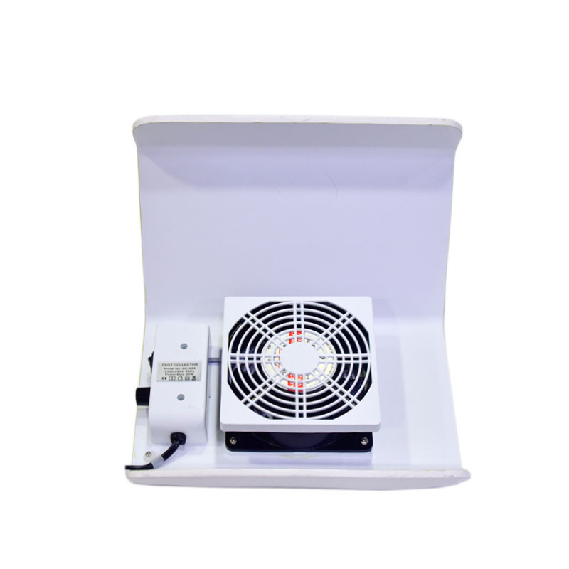 20W Two Hands Large Nail Art Salon Suction Dust Collector Manicure ...
