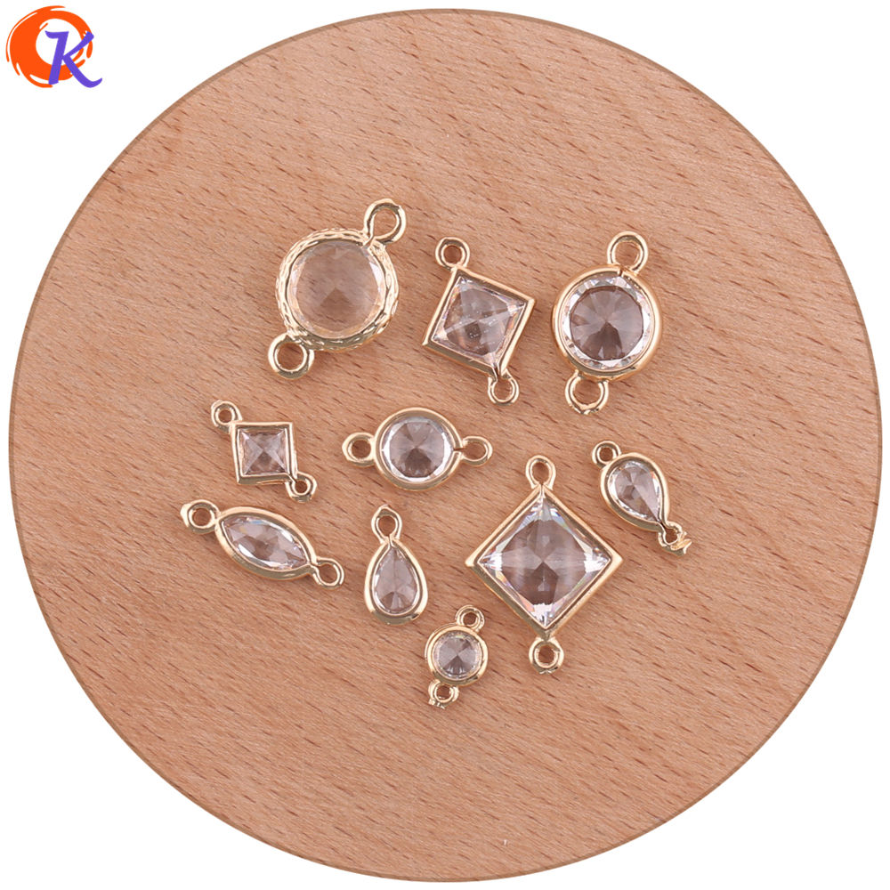 Cordial Design 100Pcs Jewelry Accessories/Earring Connectors/Crystal DIY Making/Charms Jewelry/Hand Made/Earring Findings