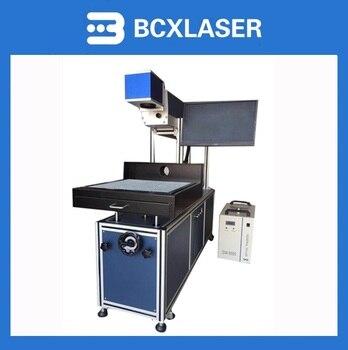BCXLASER de alta precisión 300*300mm CO2 máquina de marcado láser de engracing máquina para tela de prenda textil de cuero