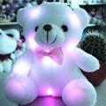 J242 kawaii! nueva llegada 20 cm suave del LED que brilla intensamente colorido pequeño oso animales muñeca de peluche de felpa juguetes para niños regalos venta al por mayor