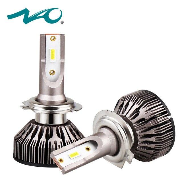 H7 turbo led h4 bulb h11 led h1 car led headlights hb4 hb3 lamp for auto 12V h8 beam h9 9006 9005 car Light moto bulb 6000K NAO