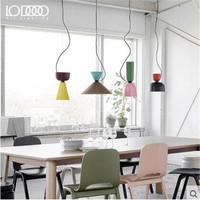 DIY Mixed Colors Vintage Painted Iron Led E27 Pendant Light For Dining Room Restaurant Bar Decor