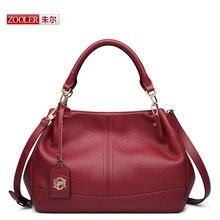 ZOOLER Fashion 2017 candy color fashion all-match bucket bag Genuine Leather one shoulder cross-body bolsa feminina BC-8160