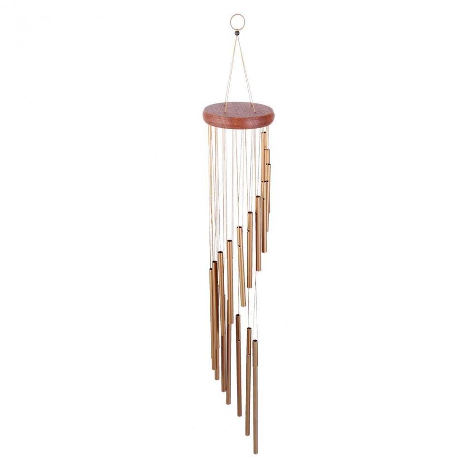 36 39 39 metal tubes wind chimes hooks spiral elegant design. Black Bedroom Furniture Sets. Home Design Ideas