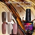 Modelones Новый Кофе Шоколад Серии Гель Лак Для Ногтей Гель Soak Off UV Гель Для Ногтей Выбрать Любой 1 Цвет Ногтей Гелем