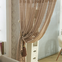 Bird Nest Mesh Fabric Florals Drapery Curtain Translucidus Voile For Bedroom Sitting Room For French Window