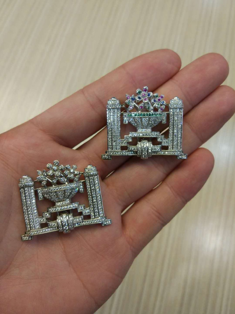 Connecteurs pour collier ou bracelet 925 en argent sterling avec zircon cubique fleur bijoux de mode résultats de bijoux à bricoler soi-même - 2