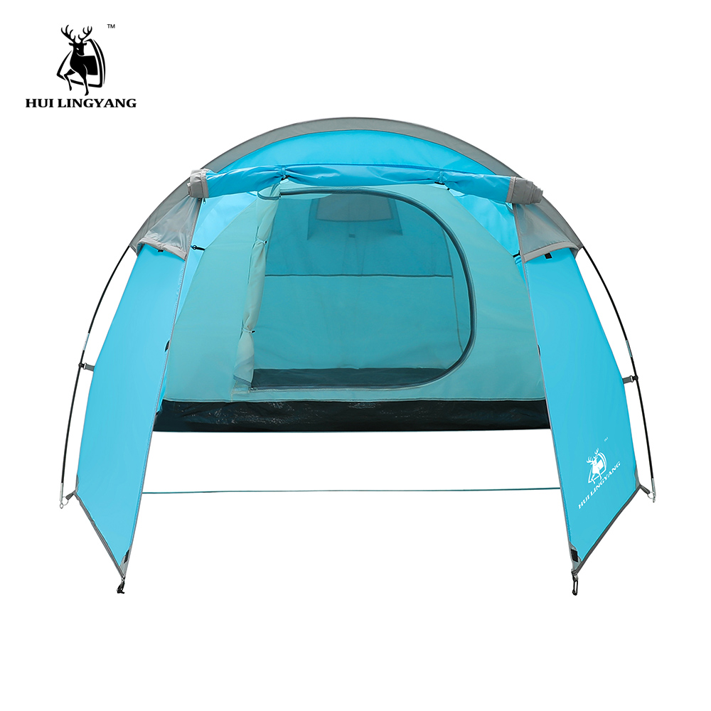 bd84354f7ace Camping tent Waterproof 3 4 person Double Layer Tunnel tent Outdoor camping  hiking climbing ultralight large space Beach tents-in Tents from Sports ...