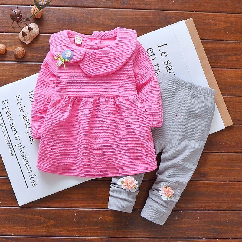 Girls Long Sleeve Outfits Clothing Sets For Girl Baby Girls Spring Summer Clothes Kids Tracksuit Children Sports Suit 2 piece 3T children s clothing autumn girls suit 2015 new kids long sleeve sports casual sets big girls cartoon princess spring 3 piece