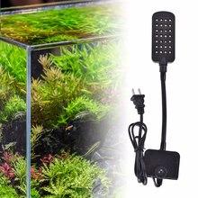 цена на 28 LEDs Aquarium Beleuchtung Flexible Aquarium Lampe Wasser Anlage Clip Licht Beleuchtung Lampe Dekoration touch sensor Modi