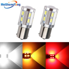 цена на 1156 BA15S 13 SMD 5050 Car RV White LED Bulbs For Backup Signal Reverse Light Tail Bulbs Red Amber White DC 12V