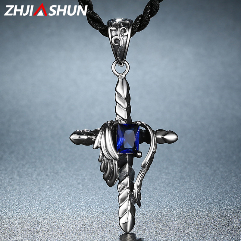 ZHJIASHUN 100% Real 925 Sterling Silver Wings Pendants Necklace for Women Men Wholesale High Quality Party Jewelries zhjiashun genuine 100