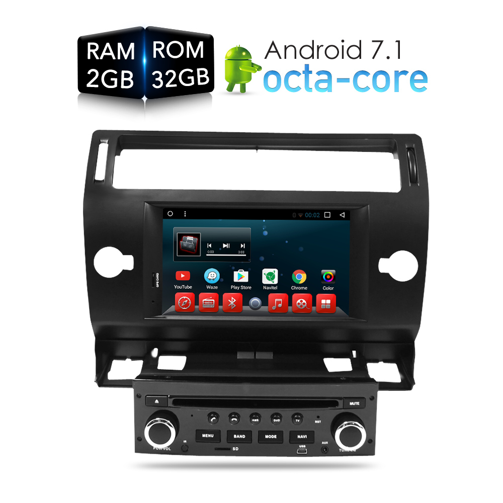 Android 7.1.1 Car DVD Player GPS Glonass Navi for Citroen C4 C-Triomphe C-Quatre 2005 2006 2007 2008 2009 Radio Audio Stereo губная помада maybelline hydra extreme тон 408 260 лиловый шёлк page 9