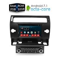 Android 7.1.1 Car DVD Player GPS Glonass Navi for Citroen C4 C Triomphe C Quatre 2005 2006 2007 2008 2009 Radio Audio Stereo
