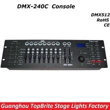 2017 Бесплатная доставка Высокое качество DMX240 контроллер DMX 512 DJ Disco консоли оборудование для сцены свадьбы события Освещение