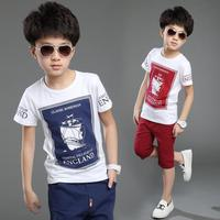 2016 New Hot Sale Summer Kids Boys T Shirt Shorts Set Children Short Sleeve Shirt Boys