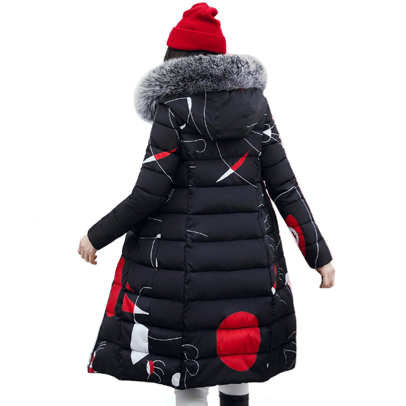 Hooded With Fur Women Winter Jacket Long Cotton Padded Outwear Womens Female   Parka   2019 High Quality Coat Both Two Side Can Wear