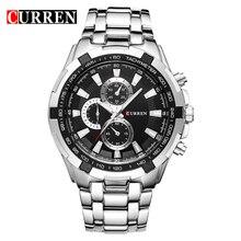 Роскошные повседневные мужские кварцевые часы со стальным ремешком от Топ Бренда CURREN, классические аналоговые часы, спортивные
