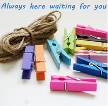 Colored wooden clamps. Photo clip. Cute love DIY photo wall clips. 35mm birch color Snacks folder. Home clip
