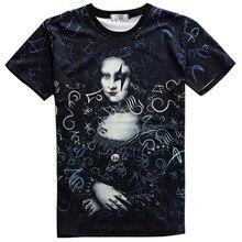 Men's Short Sleeve 3D Cartoon ONE PIECE OP clown poker Mona Lisa Printing women men lovers round neck t shirt