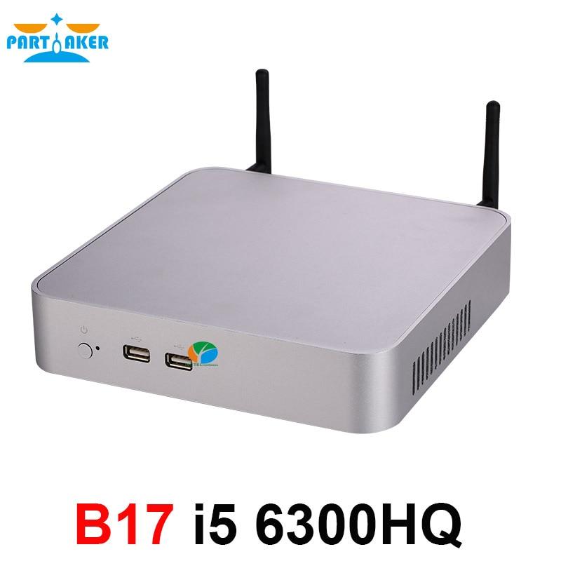 Partaker Mini PC I5 6300HQ Quad Core Max 32G DDR4 RAM Windows 10 Fan Mini Computer I5 With AC WIFI Bluetooth HDMI VGA DP