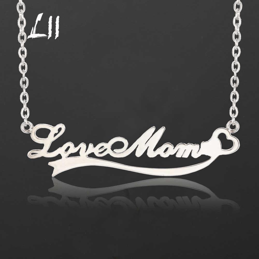 L11 カスタムネームネックレスゴールドカラーステンレス鋼パーソナライズ女性のギフトのため銘板ペンダントチョーカーネックレス
