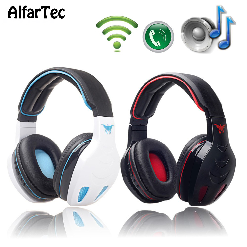 Bluetooth Bass Stereo Headband Noise Canceling Super Clear Headphone With Microphone PC Gaming Video Movie For Phones Computer top brand onear headphone gaming headphones headset stereo bass noise canceling for pc iphone 6 5s 4s mobile phones
