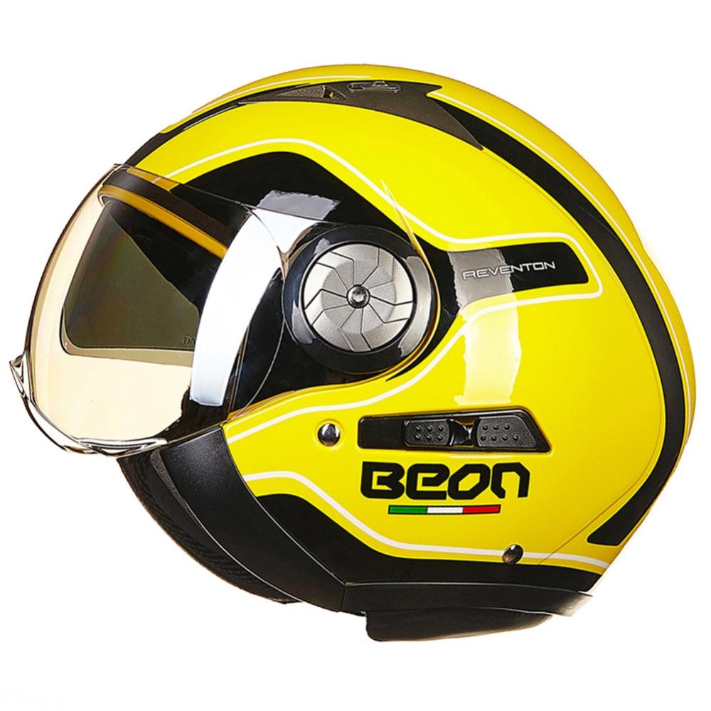 БЕОН упорядочить мотоцикл чоппер шлем 3/4 открытым лицом старинные шлем Мото шлем КАСКО шлемы мотоциклиста лошади унисекс