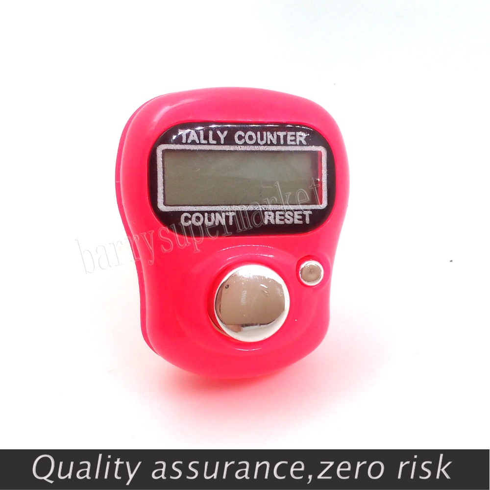 Mini counter Digital Manual counter FingerRing Tally Counter 5-Digit Ring Tally Digit LCD Electronic Counter + battery 0-99999 round base black reset knob 4 digit silver tone hand tally counter w finger ring