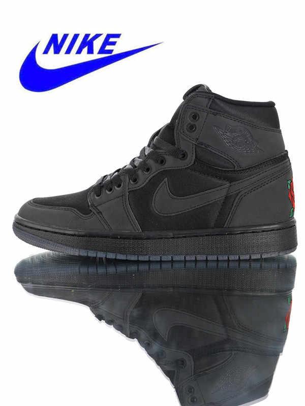 quality design 32e2d 50e6a Original Nike Air Jordan 1 Retro High OG Men s Basketball Shoes Breathable  Sports Sneakers Trainers BV1576