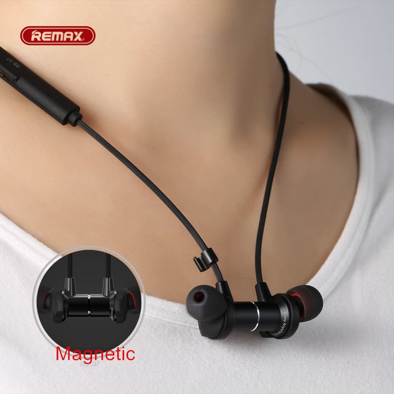 remax S7 Bluetooth 4.1 sport Magnetic Adsorption Metal hifi earphone for iphone 5s 6 7 plus Earbuds Mobile phone headset