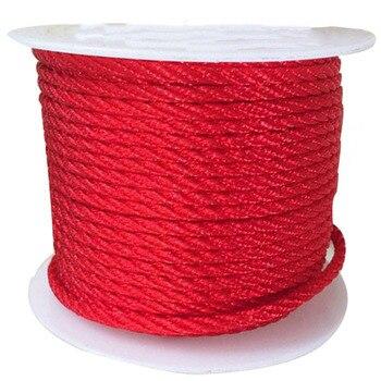 3mm giro rojo hilo de Nylon Cord-30m/rollo arte y joyería DIY accesorios cuerda de macramé pulsera cadena collar