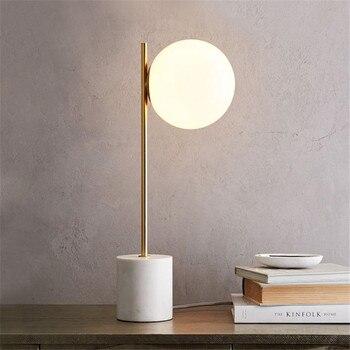 Modern Masa Lambası LED masa lambası Çalışma Odası Okuma Işıkları Yatak Odası Masa aydınlatma armatürleri Ev Aydınlatma Küre top lamba