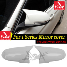 Replacement M-Style High-quality ABS Pure White Rear View Mirror Cover For BMW 1-Series F20 116d 118i 120i 125i 128i 135 2012-16