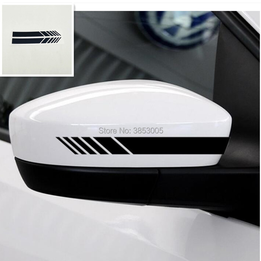 Car Rearview Mirror Decal Stripe for bmw f30 dodge ram 1500 toyota corolla ford <font><b>f150</b></font> <font><b>accessories</b></font> lexus is250 dodge ram bmw e60 image