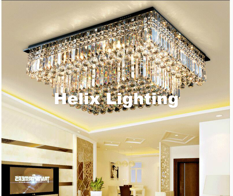 Indoor Ceiling Modern K9 LED Crystal Ceiling Light Fixture Chrome LED Ceiling Light Lighting Lamp Flush Mount AC Guaranteed 100% free shipping high quality modern crystal ceiling lamp golden crystal ceiling lighting sy4062 4l d500mm ac 100